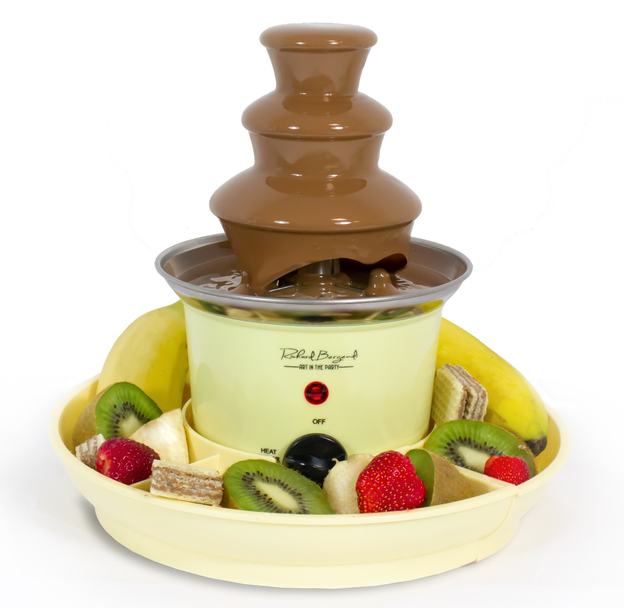 Chocolate Fountain Richard Bergendi PETITE, 240 mm height, with Serving Trays Czekoladowa Fontanna Richard Bergendi PETITE, 240mm wysokości z Tacami do serwowania